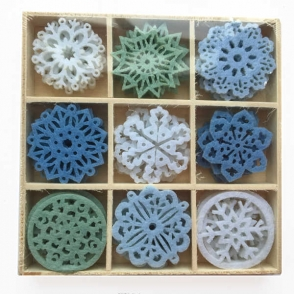 artemio mini felt shapes - snowflakes