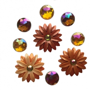 autumn sunset - button embellishments from dress it up