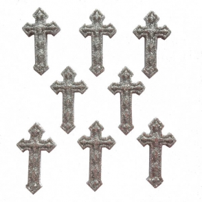silver crosses - easter collection from dress it up buttons