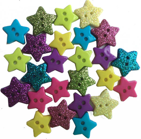 Star Shaped Micro Mini Buttons Trimits Paper Craft Lilac Purple